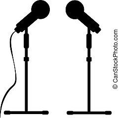 microfone, fundo branco