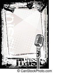 microfone, fundo