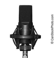 microfone, isolado, vocal