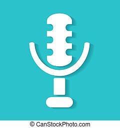 microfone, retro, ícone