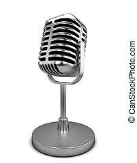 microfone, retro