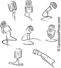 microfones, isolado