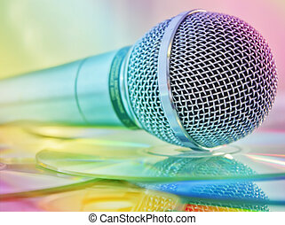 microfono, dischi