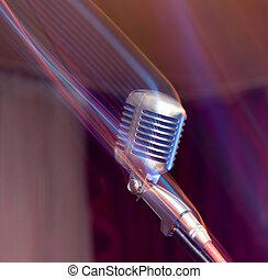 microfono, palcoscenico