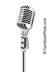 microfono, retro, (vector)