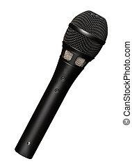 microfono, sfondo bianco