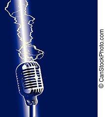 microfono, stike, lampo