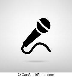 microfono, vettore, segno., illustrazione
