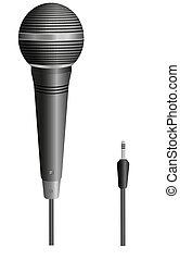 microfono, vettore, tuo, illustrazione, design.