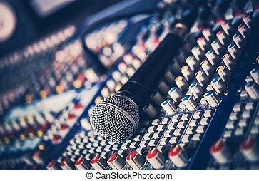 microfoon, audiomixer