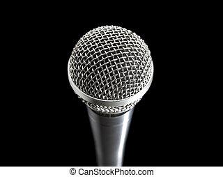 microfoon, black , op