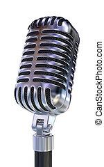 microfoon, mode, oud
