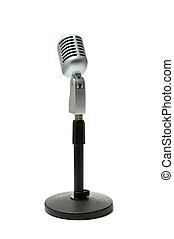 microfoon, op wit