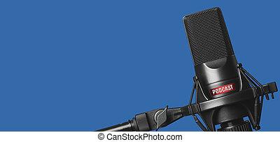 microfoon, opname, podcasts, studio
