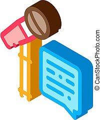 microfoon, pictogram, vector, klesten, reproductie