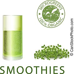 Microgreen sprout smoothies for healthy eating