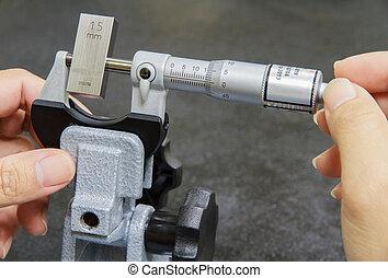 micromètre, calibrage