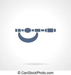 Micrometer blue glyph style vector icon