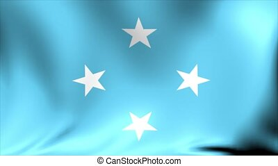 Micronesia Flag. Background Seamless Looping Animation. 4K...