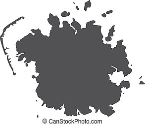 Micronesia map in black on a white background. Vector illustration