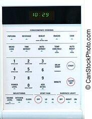 microonda, telclado numérico