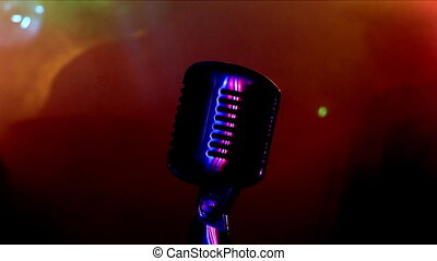 microphone 1 - Microphone, colour lights, rock Concert.