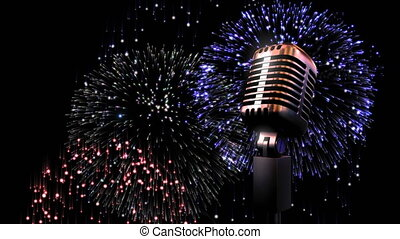 Microphone and fireworks