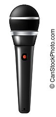 Microphone and karaoke, music recording studio or stage equipment