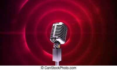 Microphone and red circles