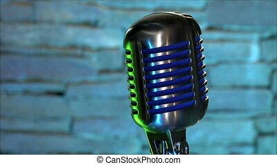 microphone, arrière-plan coloré