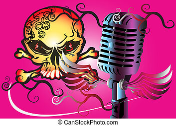 microphone art rock