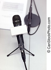Microphone at press conference