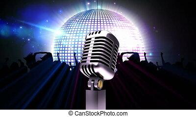 microphone, balle, disco