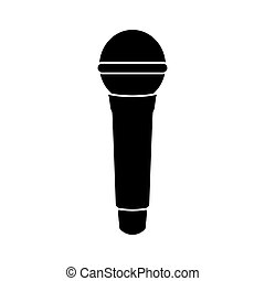 Microphone black color icon .