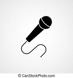 Microphone black icon. Vector