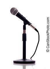 microphone, blanc