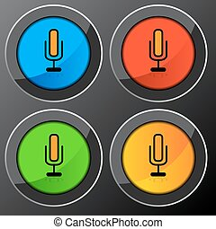 microphone, bouton