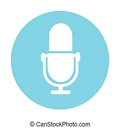 microphone button icon, on white background
