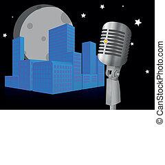 microphone City night
