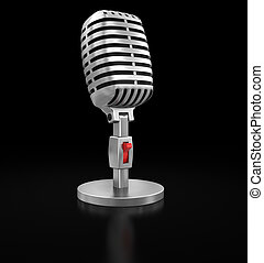 Microphone (clipping path included)