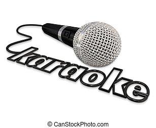microphone, divertissement, karaoke, amusement, chant, événement