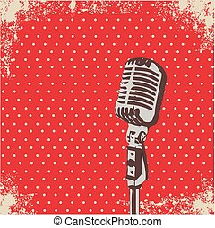 Microphone Dot vector - Retro Microphone Dot Background...