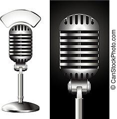 microphone - realistic illustration of a studio mic