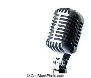 Microphone - Vintage Microphone With Text Area