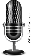Microphone - Vector illustration of retro microphone