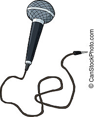 Microphone on a white background vector illustration