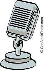Microphone - Retro, vintage or antique style radio or...