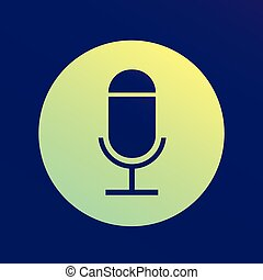 Microphone flat vector icon