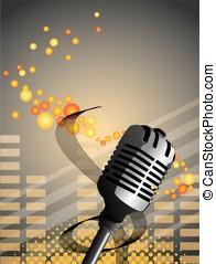 microphone, fond