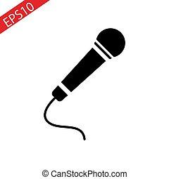 Microphone for Karaoke. Illustration on white background